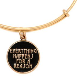 Wholesale Hot Alex and Ani verything Happens for a Reason Expandable Wire Positive energy feature Handmade copper extended Bangle Factory sales