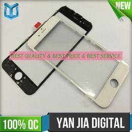 Iphone vidrio de alta calidad en venta-Ensamblaje de cristal de la alta calidad para el vidrio del iphone 6 con el acoplamiento del marco y del oca y del oído DHL libera el envío