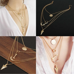 Wholesale New Fashion Women Charm Jewelry Chain Pendant Geometry Choker Chunky Statement Necklace SGL JT