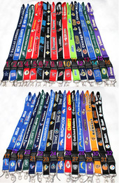 Wholesale 2015 New DHL Football Baseball Key Lanyard Mobile neck strap Whlesalers Mix color