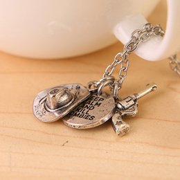 Wholesale Fashion The Walking Dead jewelry keep calm and kill zombies gun hat pendnats for men women statement jewelry