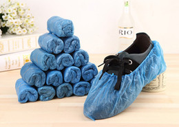 Wholesale 2016 new Elastic Disposable Plastic Protective Shoe Covers Carpet Cleaning Overshoe YT0083 salebags