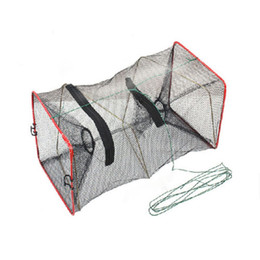 Wholesale New Fishing Trap Net Mesh for Crab Prawn Shrimp Crayfish Lobster Bel Live Bait Pot