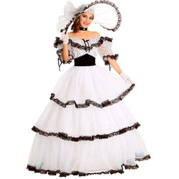 Southern Belle Costume Victorian Dress Costume Adult Halloween Costumes for Women White Civil War Gown Ball Lolita Dress Custom