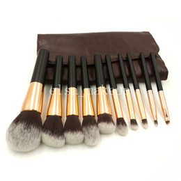 Wholesale 10Pcs Professional Makeup Brush Sets Personalized Kabuki Make Up Brush Makeup Tools Kit ePacket