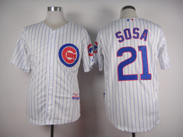 Factory Outlet Mens Womens Kids Chicago Cubs 21 Sammy Sosa Beige Blue Green Grey White Stitched Embroidery Cheap Flex Cool Baseball Jerseys