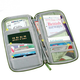 Wholesale Durable Full Closure Zipped Travel Bag Wallet Document Organiser Card Cash Passport Ticket Holder Pouch DHL