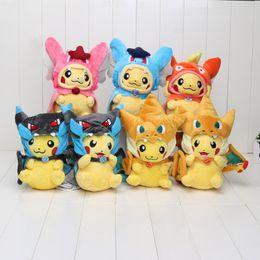 Wholesale 10 cm Poke Center Mega Tokyo Pikazard Pikachu Charizard Magikarp Brinquedo Plush Toys Stuffed Doll style