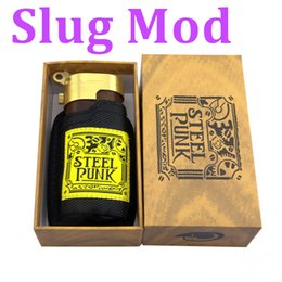Wholesale Slug Mod Wood box Mod Steel Punk Slug box Mod New ego E Cigarettes Mechanical Mods Fit Battery Mech Mods E cig vs smy180 cloupor nini