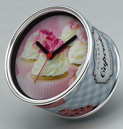 Wholesale Ice Cream CupCakes Wall Clocks With Desk Clock Magnetic Table Clocks On Back City Gift Souvenir Time