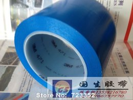 Wholesale M blue tape auto paint protection logo tape high temperature floor M width is arbitrary mm m