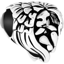 factory manufacturer angel wing metal slider bead European spacer charm fit Pandora Chamilia Biagi charm bracelet
