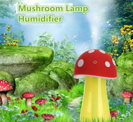 Wholesale Cute Mini Mushroom Lamp Humidifier Aroma V USB LED Air Purifier Atomizer Diffuser for Home Room Health Care
