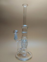 Wholesale Newest Clear Lip Wrapped Straight Tube with Turbine Perc grenades and Angled Circ Perc with mm Female Joint