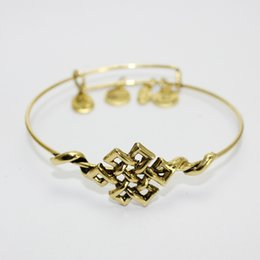 Wholesale New Style Gold plated Valentine s day gifts Alex and ANI restoring ancient ways Chinese knot bow bracelet High Quality