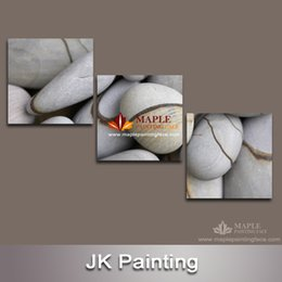 3 Panel Canvas Painting Canvas Painting Printed On Canvas Printed Picture Painting For Living Room Wall Decor Of Seaside Stone wall pictures