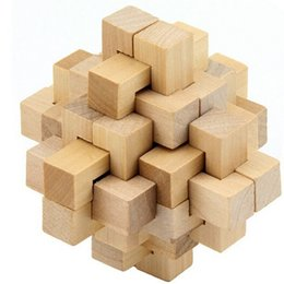 Top-sale Chinese Traditional Wooden Puzzle Ming Luban Lock Series Wooden Educational Toys 24 Lock Magic Cube