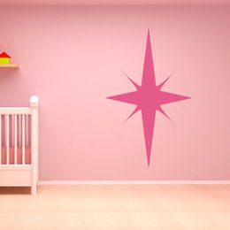 Wholesale Symmetrical Bright Star Wall Sticker Baby Bedroom Bathroom Wall Decor Sticker Vinyl Removable Home Decor