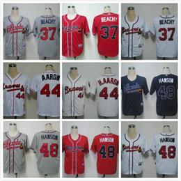 Wholesale Atlanta Braves jerseys Stitched Freddie Freeman Jersey authentic Chipper Jones jersey cheap Hank Aaron jerseys