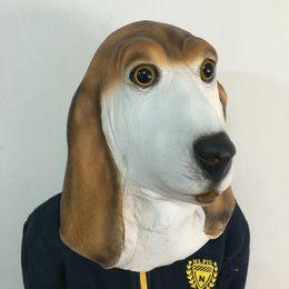 New Foxhound Latex Mask Carnival Masquerade Party Mask Realistic Animal Head Mask Cute Dog Mask free shipping