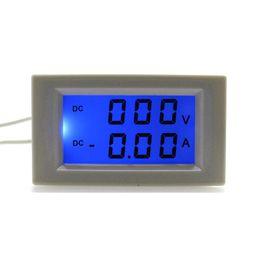 Wholesale DC0 V A Volt Amp Tester Meter DC Ammeter Voltmeter Power Supply DC V With Blue Backlight