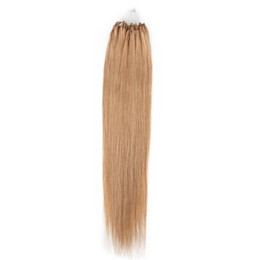 """Wholesale - 0.8g s 200S lot 14""""- 24"""" Micro rings loop Indian remy Human Hair Extensions hair extention, #27 dark blonde"""