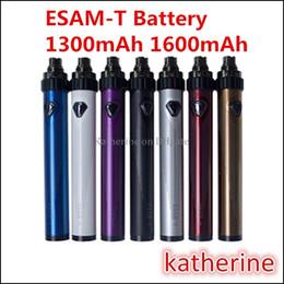 Torsion ii en Ligne-eGo ESAM-T Twist de la batterie 1300mah batterie 1600mah ESAM T 510 Thread VCT Variable tension de la batterie 3.6V-4.8V batterie VS Vision Spinner II 2