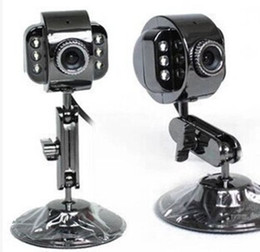 Wholesale NEW USB Megapixel HD Camera WebCam with MIC Night Vision FOR PC Laptop