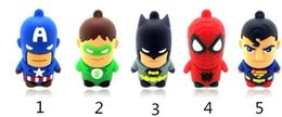 Wholesale 30 Captain America Green lantern batman spider man superman U disk GB GB GB GB USB flash drive Memory Stick Flash Pen Drive