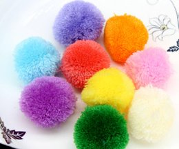 Wholesale 150pcs big mm mix color Pom pom ball pompom yarn pom decor handmade project supply Garland crochet cotton decor CM