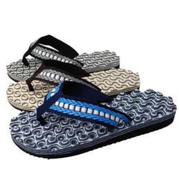Wholesale 4 Color Men Summer Flip Flops EVA Massage Beach Slipper Flat Platform Heel Flip Slippers Brief Casual Reef Flip Flops D789L