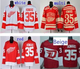 Wholesale Jimmy Howard Jersey Stadium Series Detroit Red Wings Howard Ice Hockey Jersey Authentic Jimmy Howard Jersey Size S XL