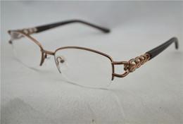 Women Optical Half Glasses Frame Metal Brand Men's Eye Glasses Lenses Computer Myopia Glasses Frame Silver Gold Brown 6Pcs Lot