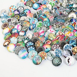 JACK88 New Arrival 50pcs lot High Quality Mix Styles Ginger Snaps Glass Snaps Fit 18mm Snaps Buttons Bracelets Diy Jewelry M782