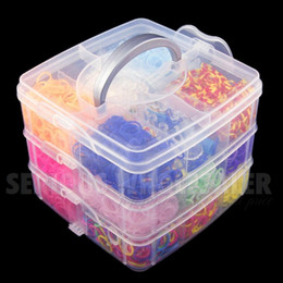 Wholesale 4800 Colorful Gum Rubber Loom Bands Bracelet Making Kit Set Fun DIY Rainbow scrunchies gum for bracelets gum plaiting