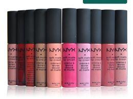 Wholesale NYX Soft Matte Lip Cream Lip Gloss Lipstick Vintage Long Lasting NYX Lip Gloss g good quality color