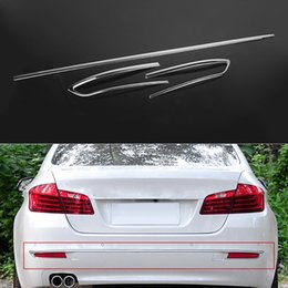 Wholesale 3 Set Car Styling Rear Bumper Fog Light Lamp Cover Stripes ABS For BMW Series F10 F11 LHD
