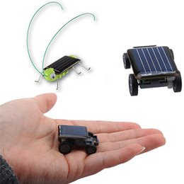 Smallest Mini Car Solar Powered Toy Car Solar Power Grasshopper New Mini Children Solar Toy Gift Teaching Gadget