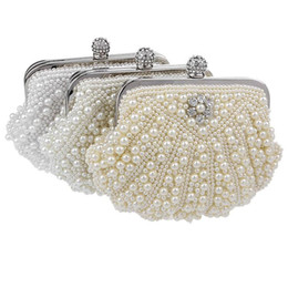 2017 Latest Design Clutch Bridal Clutch Cosmetic Bag Shoulder Chain Bag for Wedding and Banquet Party