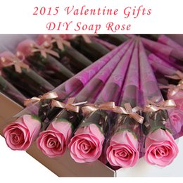 Wholesale 2015 Valentine Gifts Soap Rose Carnation Flowers Bath Flower Soap DIY Handmade Soap Crafts for Girlfriend for lover for Bridesmaid Gift