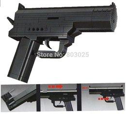 Wholesale 167pcs set DIY Educational Model Series Air Gun Blocks Army Toy Set Air Gun Pistol Blocks Brinquedos Plastic toys for Children
