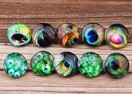 JACK88 Wholesale DIY Mix Styles 30pcs Feather Snap Button Fit Bracelet Snap Jewelry Bracelet Charm Jewelry N024