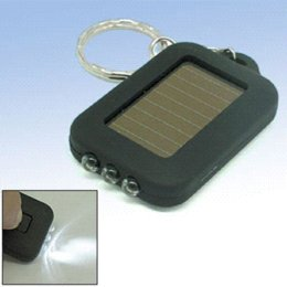 12 pcs lot,5 Shell Color available, ABS Plastic Case,Solar Flashlight Key Ring, Keychain Led Flashlight,Torch, Free Shipping