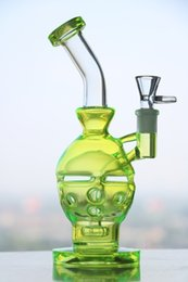 Green Colored New Glass bong fab egg Bongs original Faberge Egg Water pipe recycler bong oil rig dabs glass
