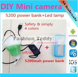 Wholesale USB LED bulb DC V W emergency portable light lamp mah power bank powered for BBQ trip education etc
