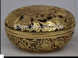 Wholesale China collectable handmade ornament rare statue flowers copper Incense burner