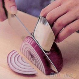 Stainless Steel Finger Hand Protector Guard Chop Safe Slice Knife Kitchen Tool 1NJG