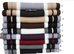 Wholesale mens scarf striped scarf men shawls scarves fashion designer wrap men business scarf oversized scarf cashmere pashmina scarf D1879