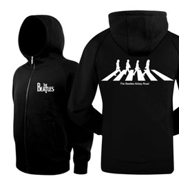 Wholesale Hot Sell YAOCOK THE BEATLES BAND ABBEY ROAD Spring Fall Winter personality Pure cotton zipper fashion fleece hooded hoodie