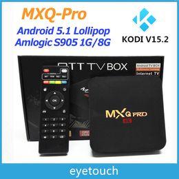 Wholesale 10P MXQ PRO K TV BOX RK3229 Amlogic S905X K Quad Core TV BOX Kodi Android RAM GB ROM GB Smart TV Player Air Play Miracast